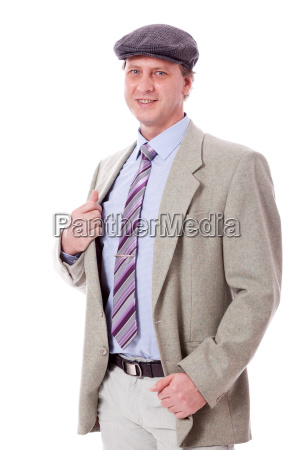 adult man in elegant leisure business