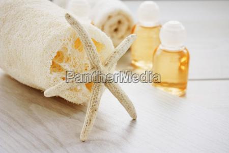 spa einstellung mit beauty produkte