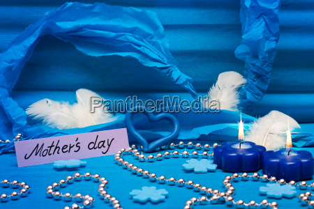 festive background in blue for mothers