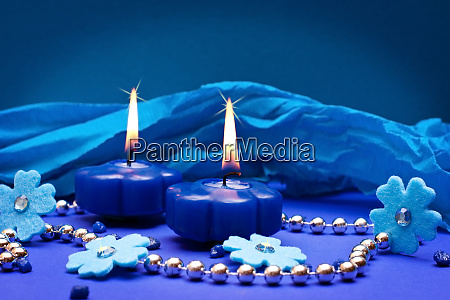 blue background for ceremonial occasions