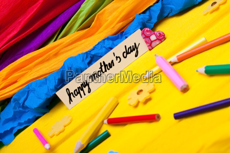 colorful background from children to mothers