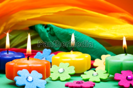 colorful background made of crepe paper
