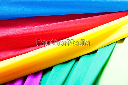 crafting with crepe paper also as
