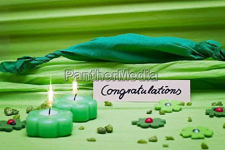 festive green background decoration