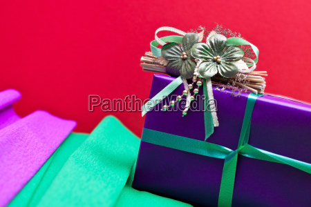 gift in front of colorful background