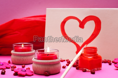 romantic old pink red background with