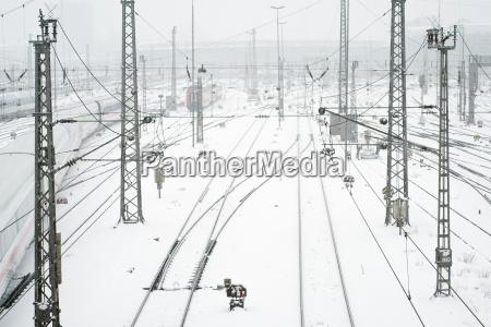 munich train station in snow