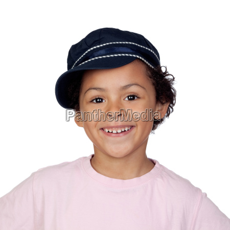 happy african child with a cap
