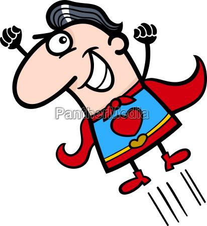 valentine superhero man cartoon illustration