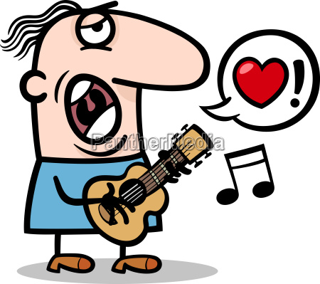 man singing love song for valentines