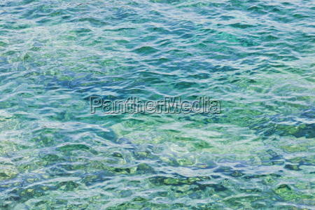 close up water in the sea