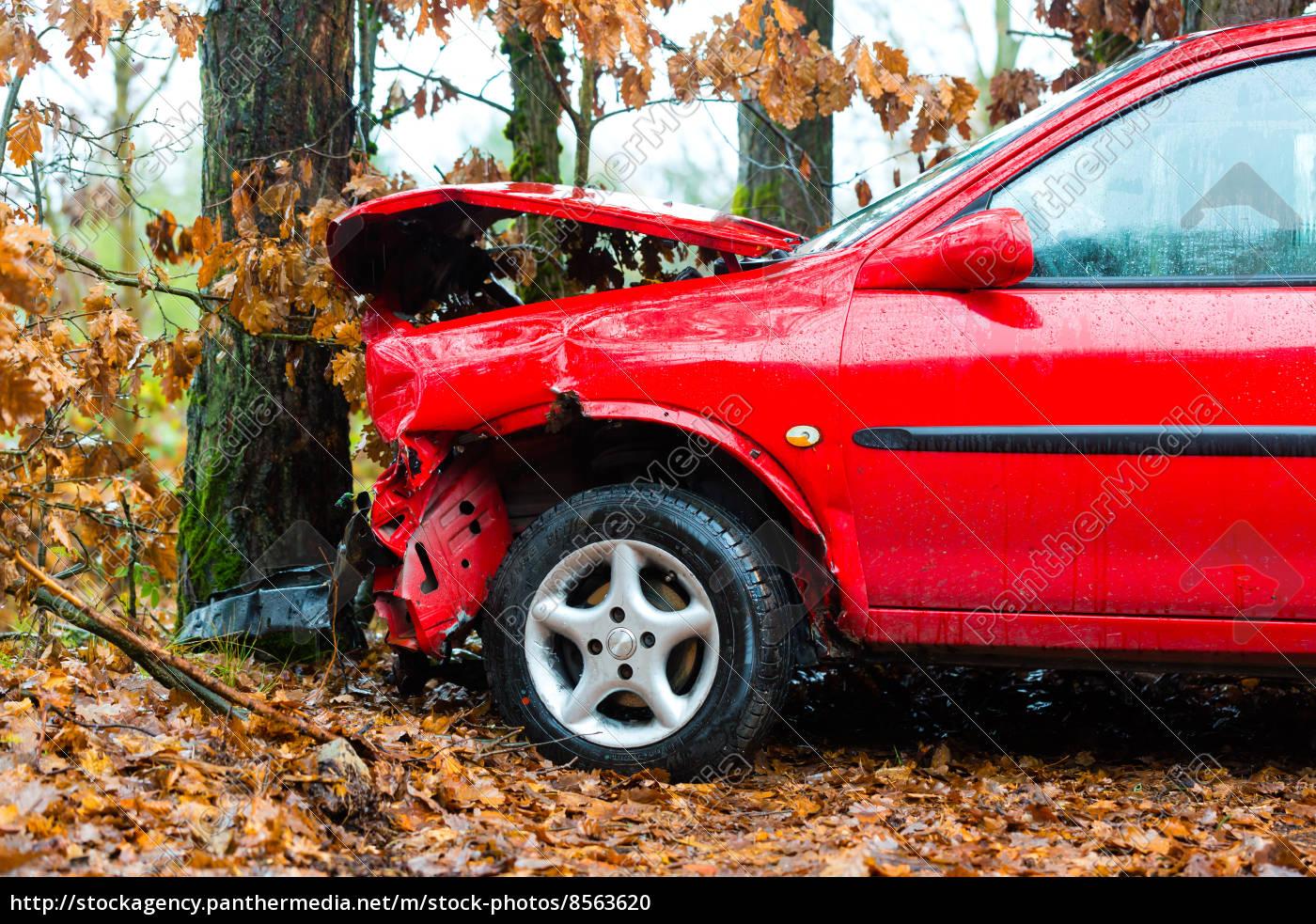 , unfall, -, auto, prallte, gegen - 8563620