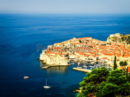 dubrovnik old town view with the