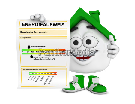 kleines 3d haus gruen energieausweis