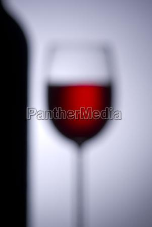 wineglass backlit blurred