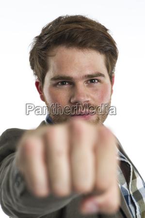 punching a man