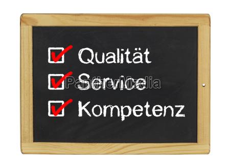 qualitaet service und kompetenz