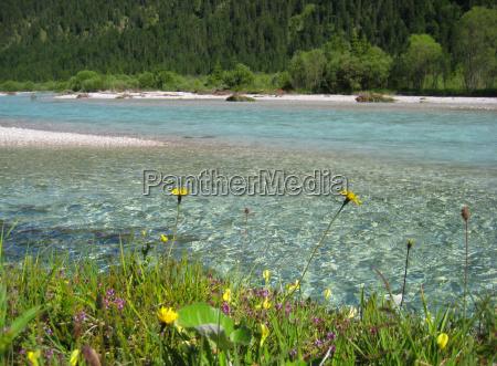 mountains stream bavaria river water