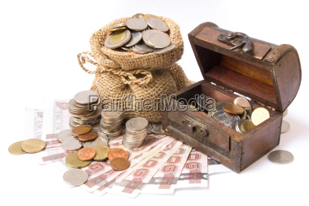money coin and bank