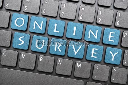 online survey on keyboard