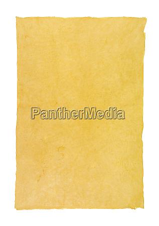 handgeschoepftes urkundenpapier mit buettenrand
