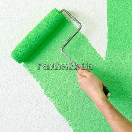 malen einer wand