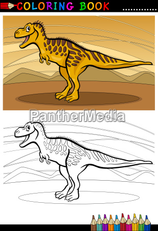 tarbosaurus dinosaur for coloring book