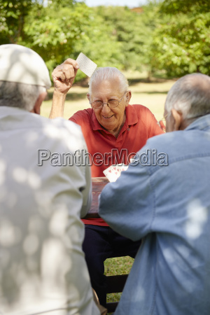 active seniors group of old friends