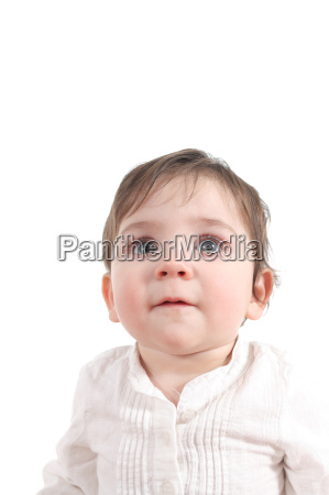 attentive baby expression