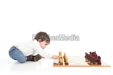 baby playing chess
