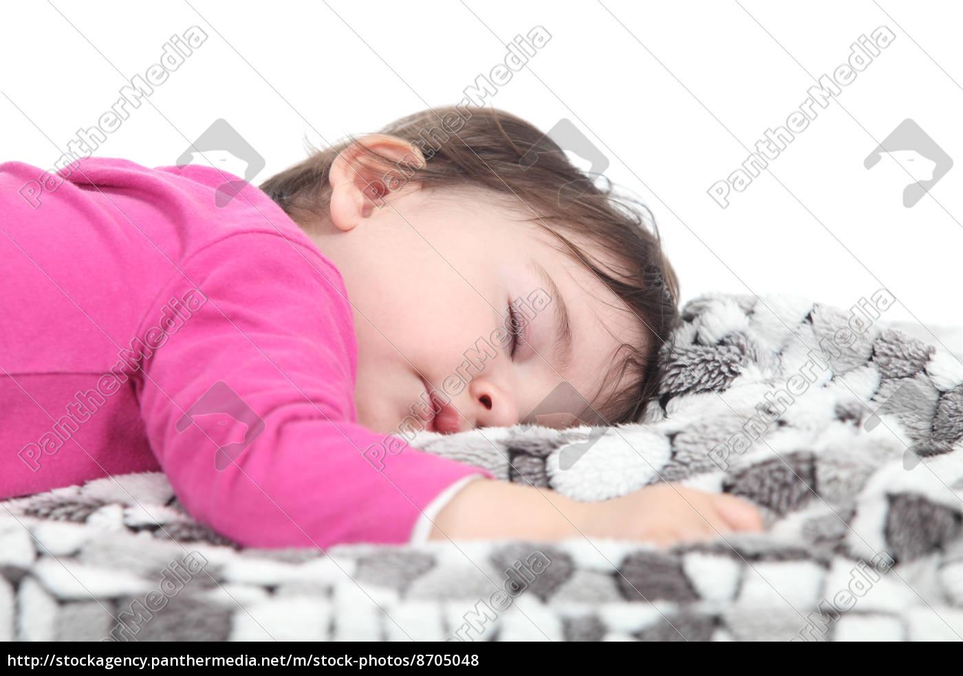 baby, schläft, auf, einer, decke - 8705048