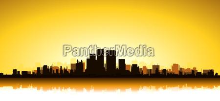 gold cityscape