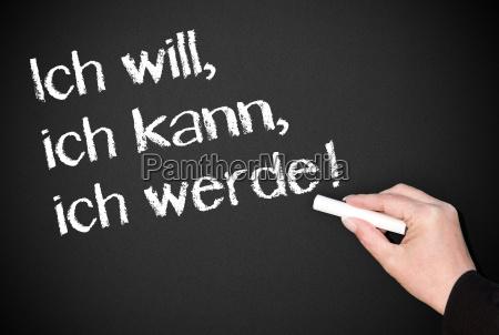 i want i can i will