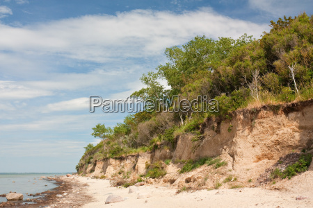 cliff on the baltic sea on