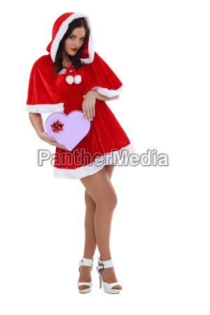 sexy woman dressed as mrs claus