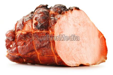fresh ham isolated on white