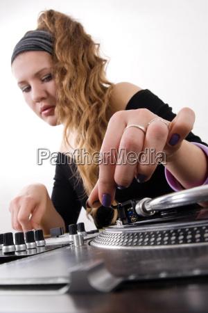 musik dj vinyl maedchen