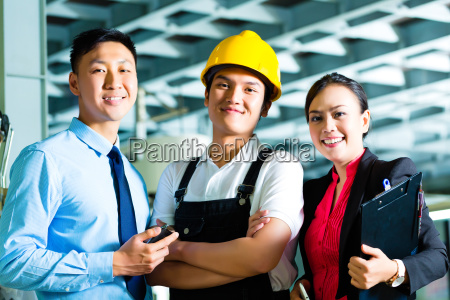 worker production manager and owner in