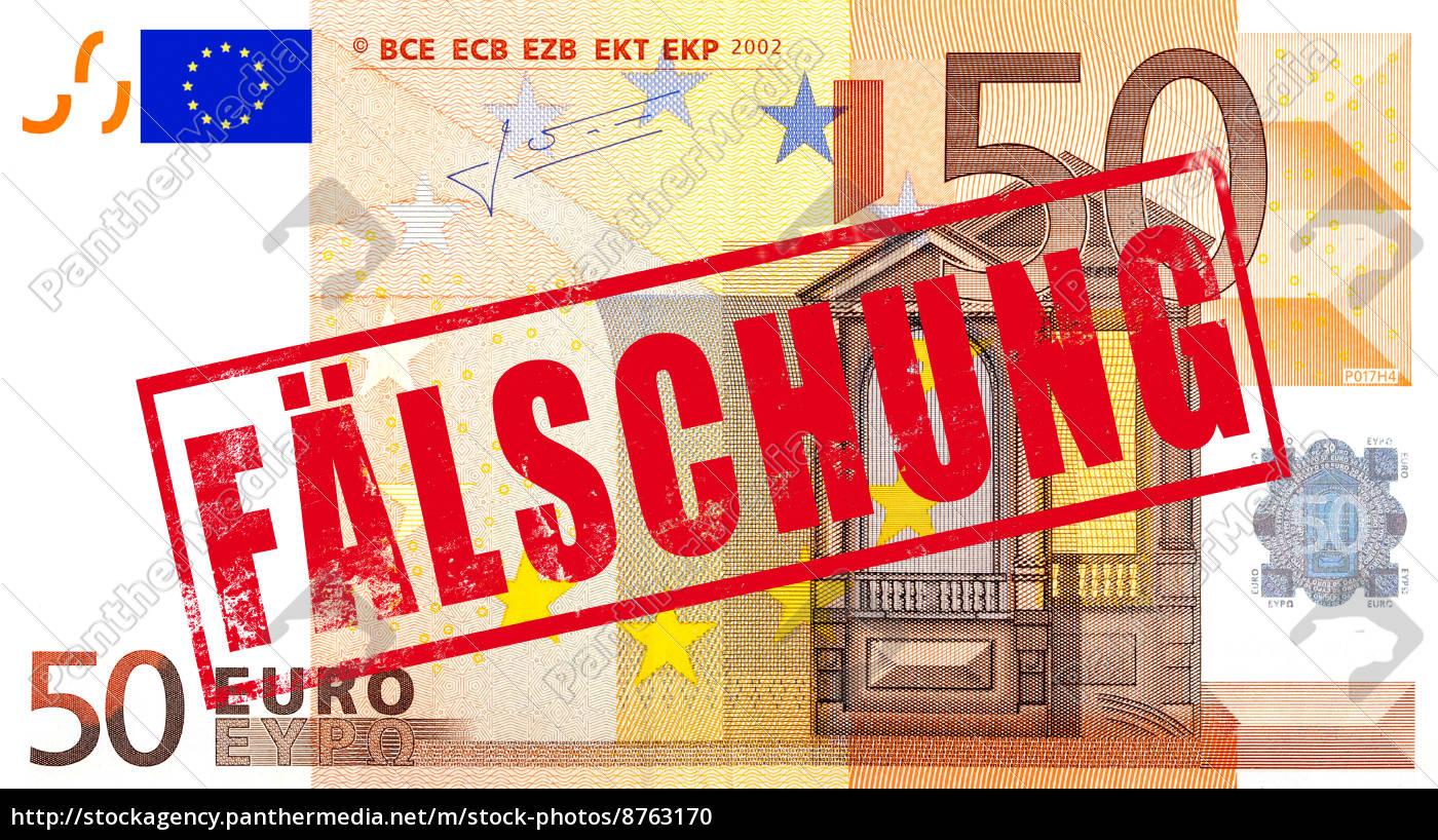 euro, geldschein, mit, stempel,