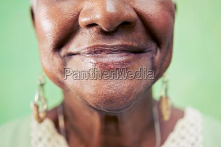 old black woman portrait close up