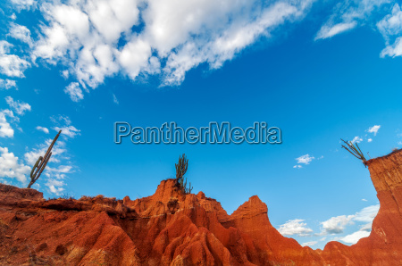 wide view of red landscape