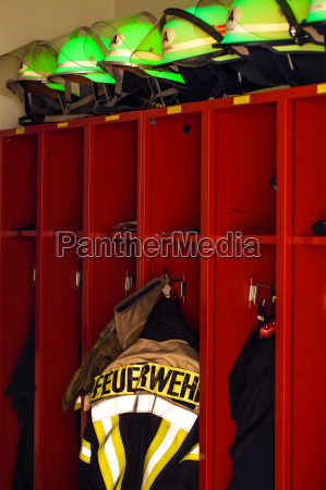 firemen jacket and helmets for use