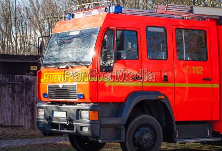 firemen fire truck