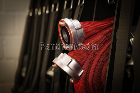 firefighters c hose rolled up in