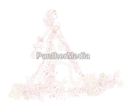 beautiful bride in white dress card