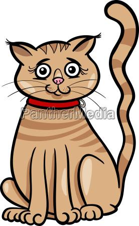 female cat cartoon illustration