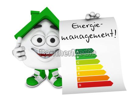 kleines 3d haus gruen energiemanagement
