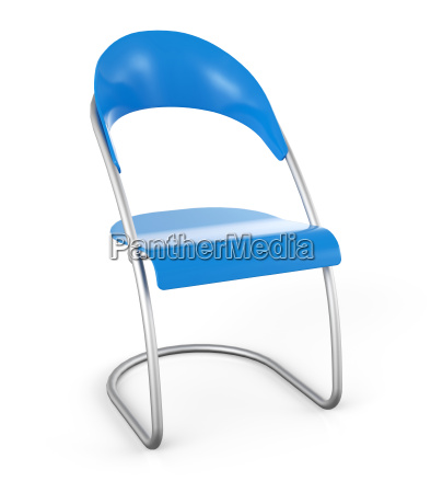 3d chair against white background