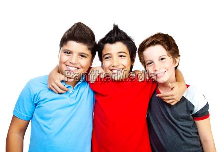 risilla sonrisas amistad retrato jovenes boy