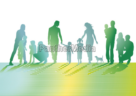 familien auf der wiese